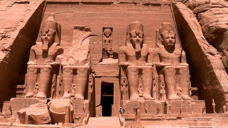 It tempio di Abu Simbel in Nubia, Egitto