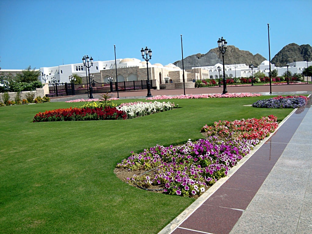 Houses around the Sultan's Palace, Muscat, Oman