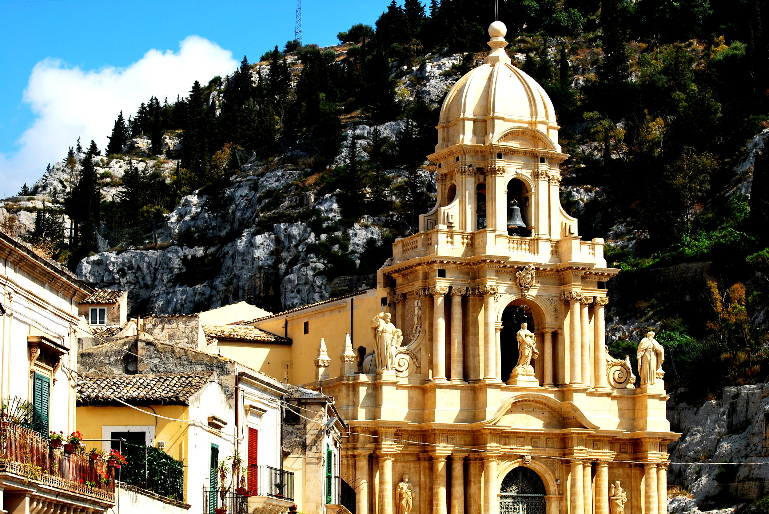 The baroque town of Scicli in Sicily