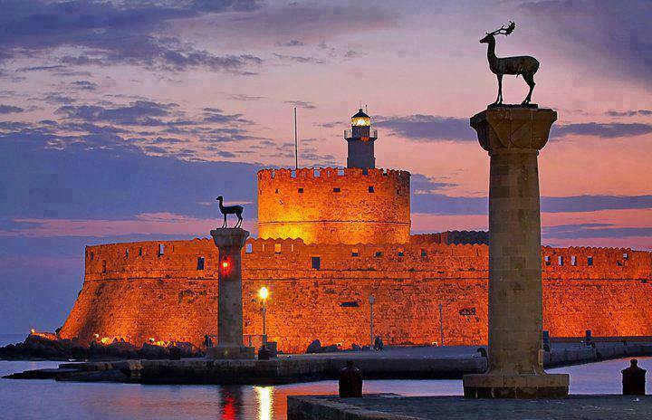 The port of Rhodes, Greece