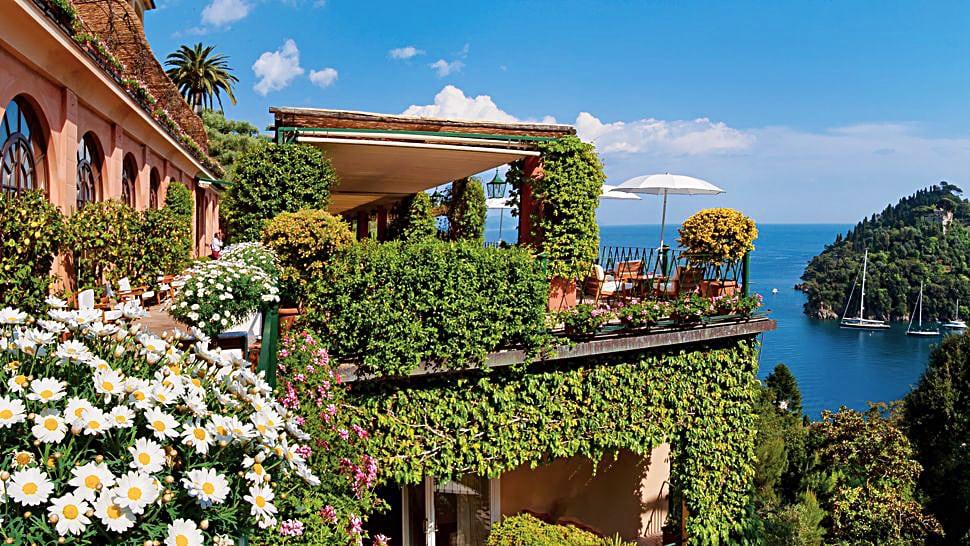 The hotel Splendido in Portofino