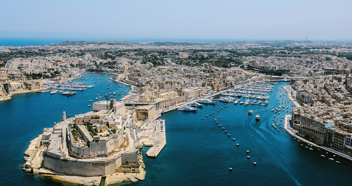 Panoramic view of Valletta, Malta