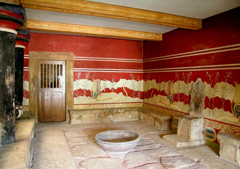 The Throne Room at the Knossos Palace, Crete