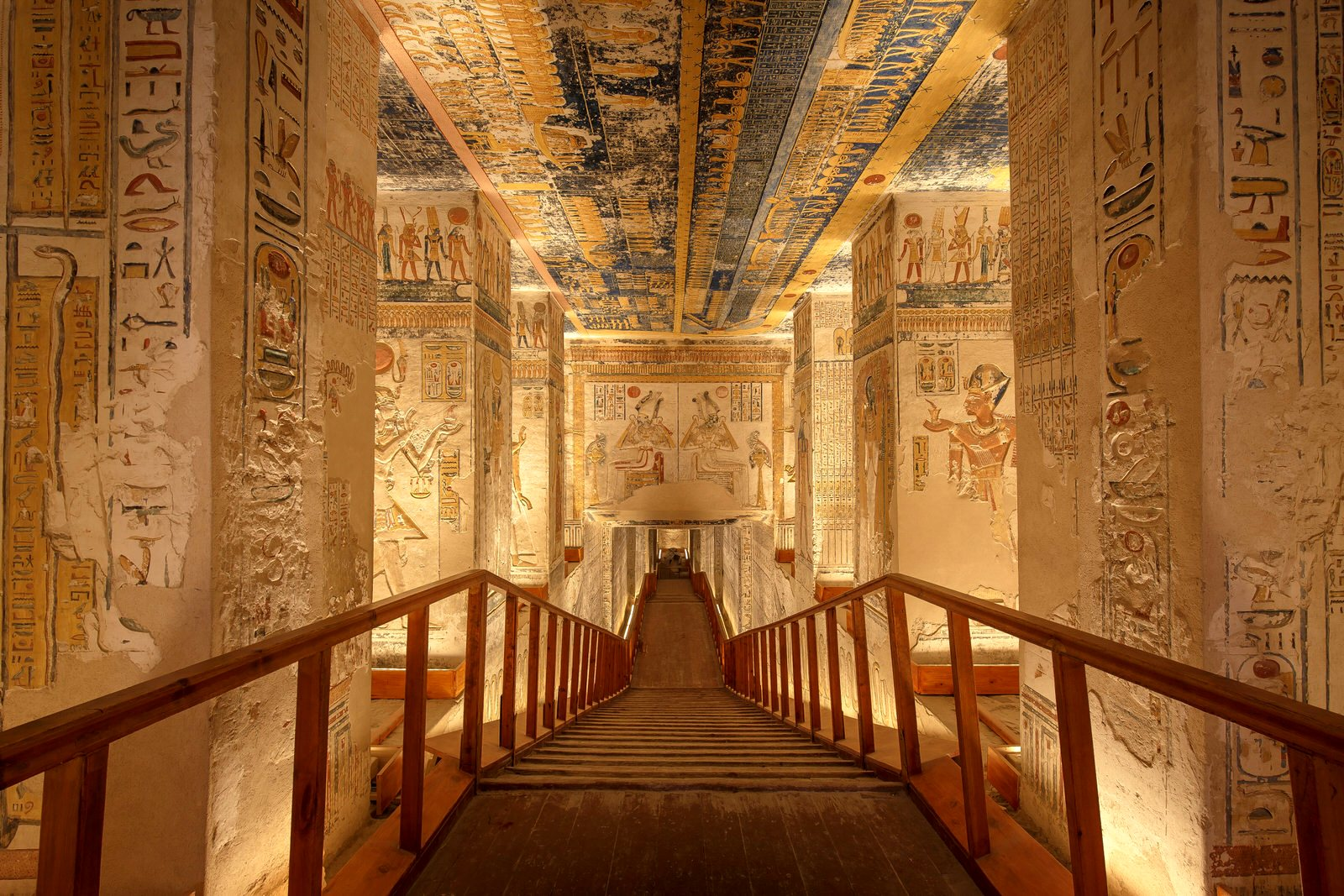 The tomb of Ramses VI in the Valley of the Kings, Egypt
