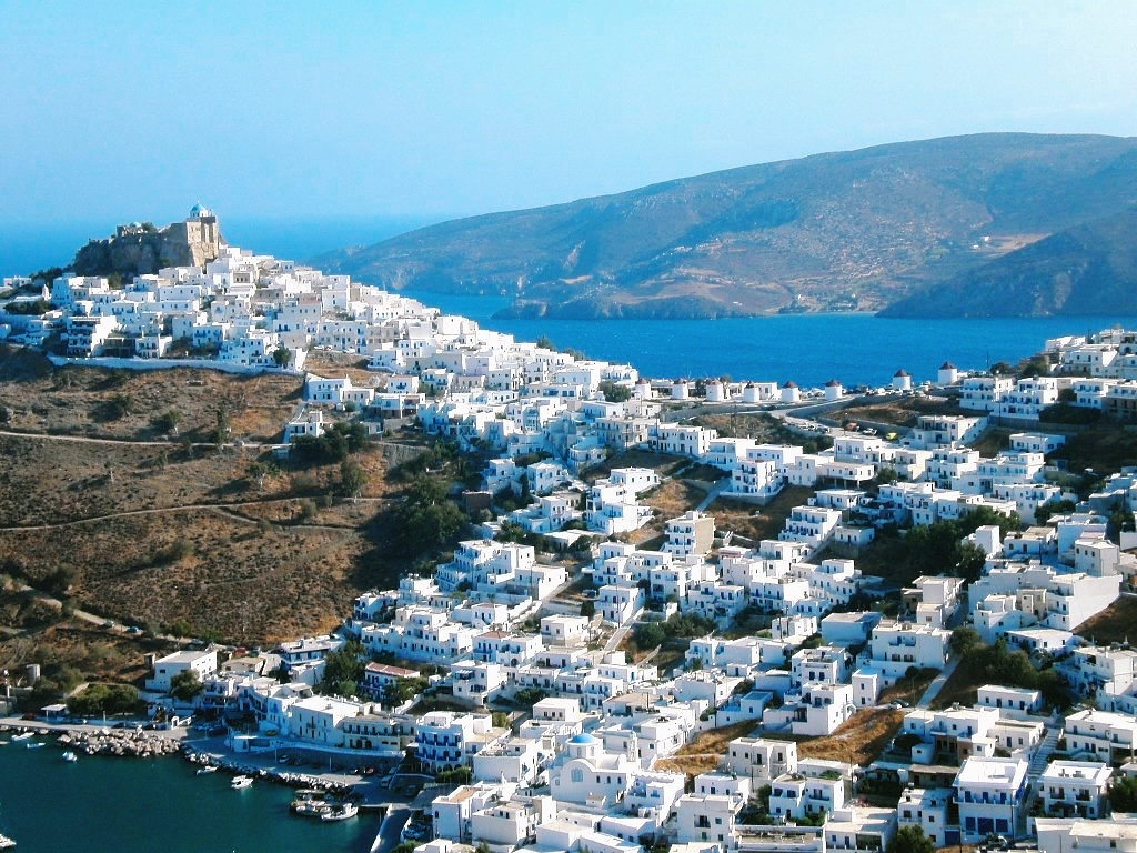 The island of Astypalea in the Dodecanese, Greece