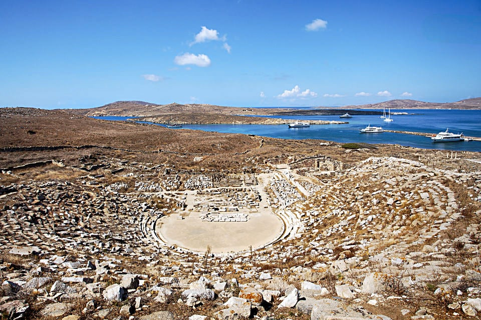 The Ancient Theater of Delos