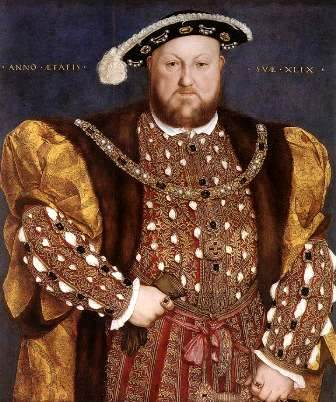 The portrait of Henry VIII of England by Hans Holbein