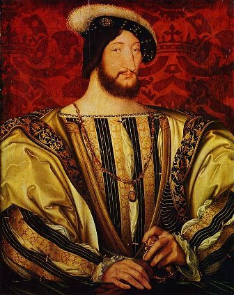 The portrait of Francis I of France by Jean Clouet