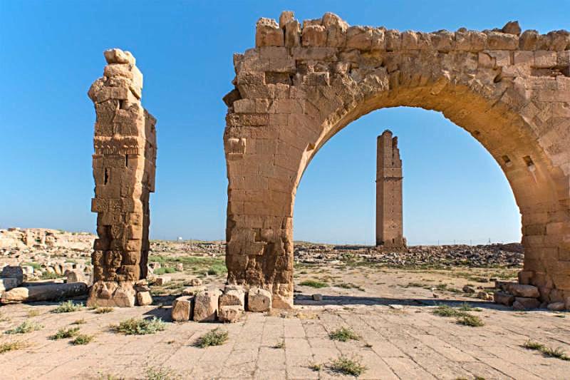 Rovine della vecchia università di Harran, Alta Mesopotamia, Turchia
