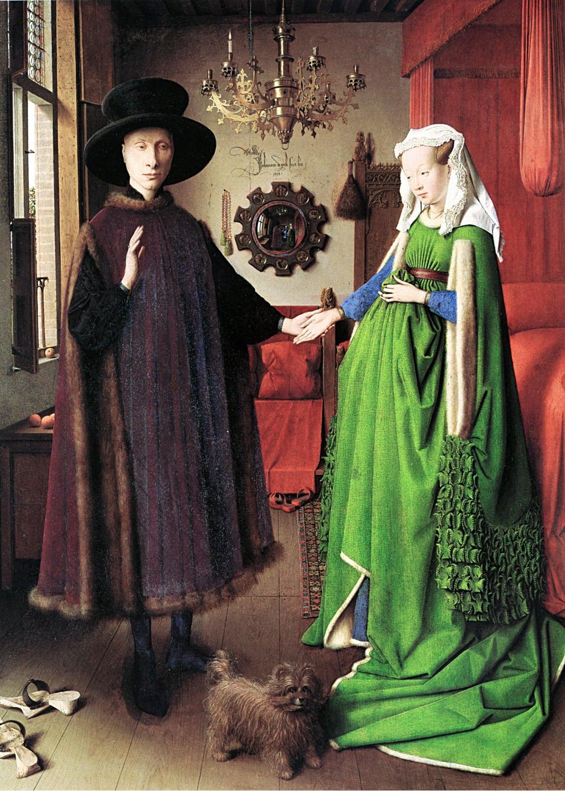 lI ritratto dei coniugi Arnolfini, National Gallery, Londra