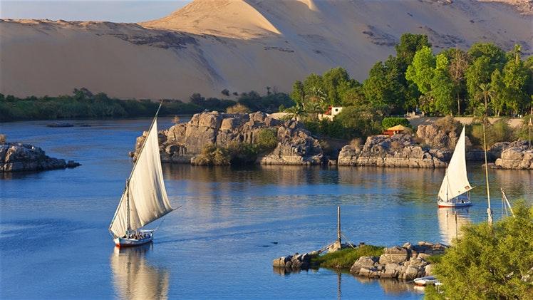Feluche sul Nilo, Assuan, Egitto