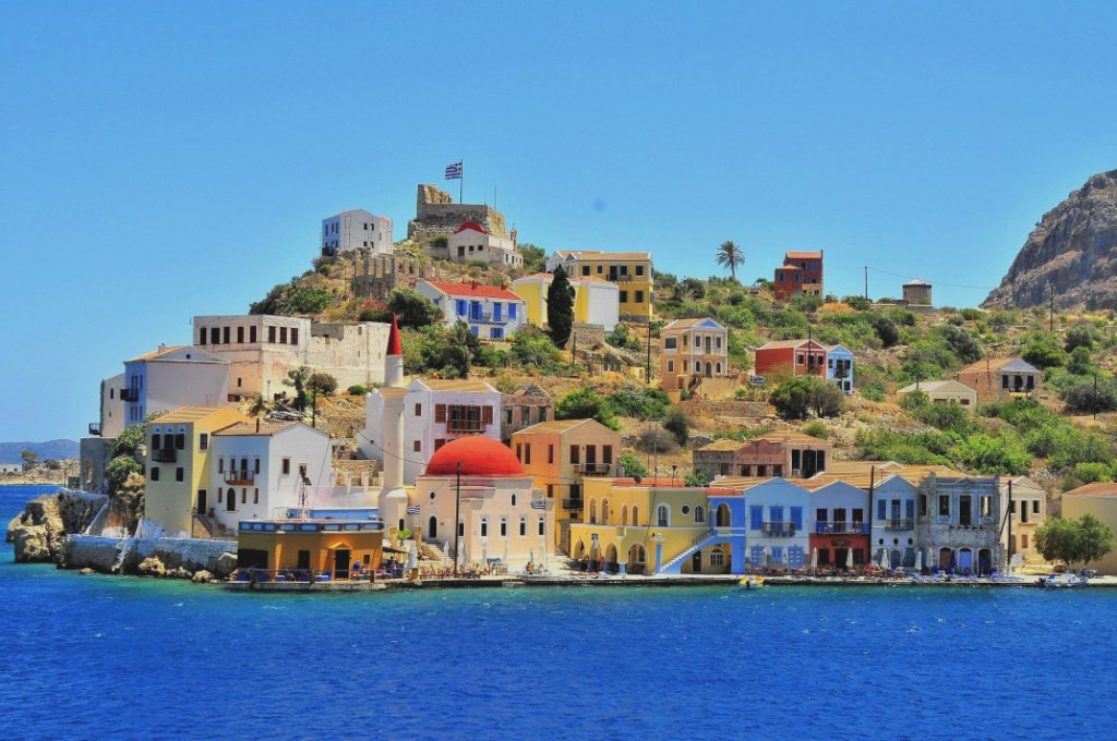 The port of Kastellorizo, Dodecanese, Greece