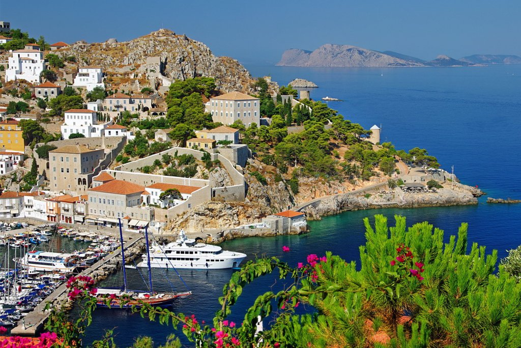 A scenic view of Hydra