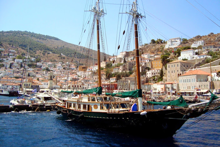 The harbour of Hydra
