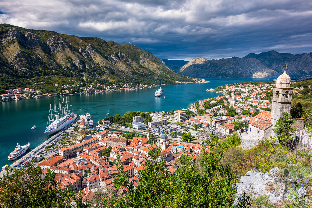 A spectacular view of Kotor, Montenegro