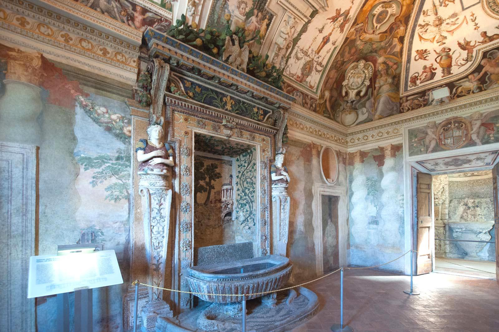 Interiors of the Villa d'Este, Tivoli, Rome