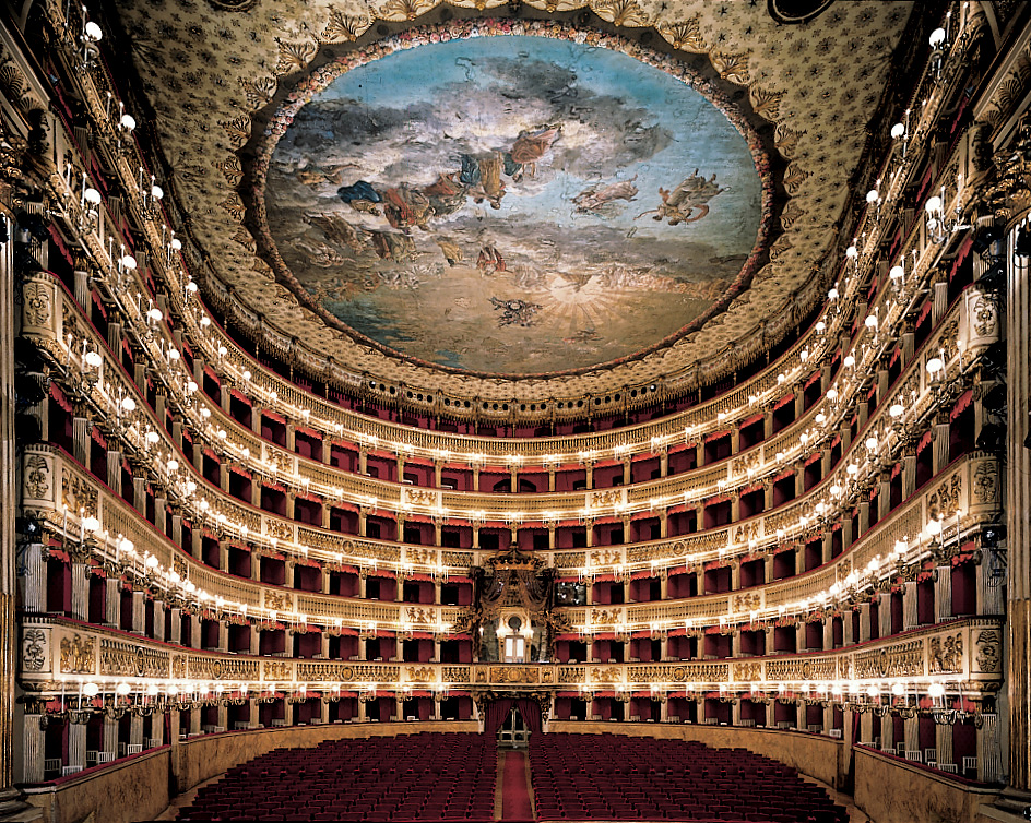 The San Carlo Theater in Naples