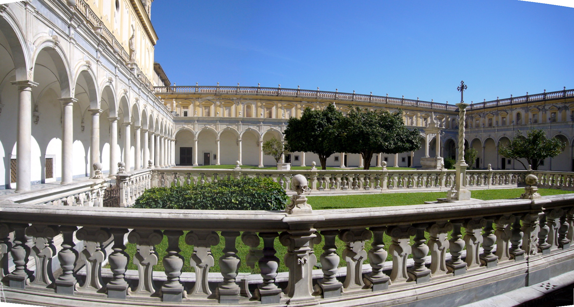 The courtyard of the Certosa di San Martino, Naples