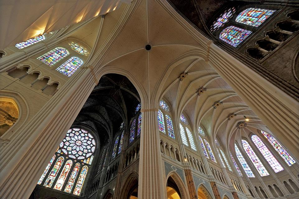 The Cathedral of Chartres - interior, France