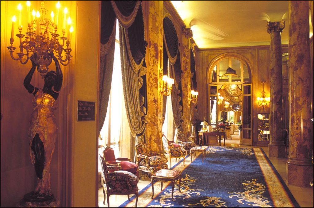 The lobby of the Ritz in Paris
