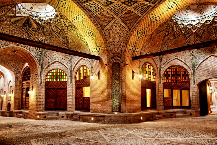 Sad Al-Saltaneh, one of the best Persia's urban caravanserai and the largest indoor inn in the world