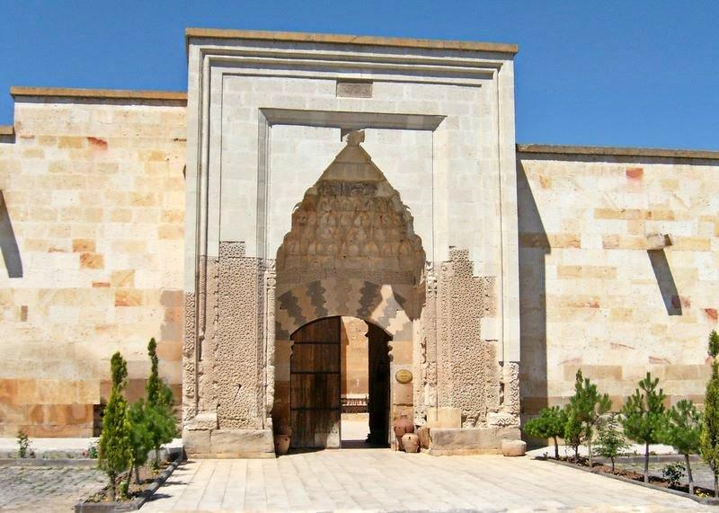 Entrance gate to the Sultanhani caravanserai in Turkey