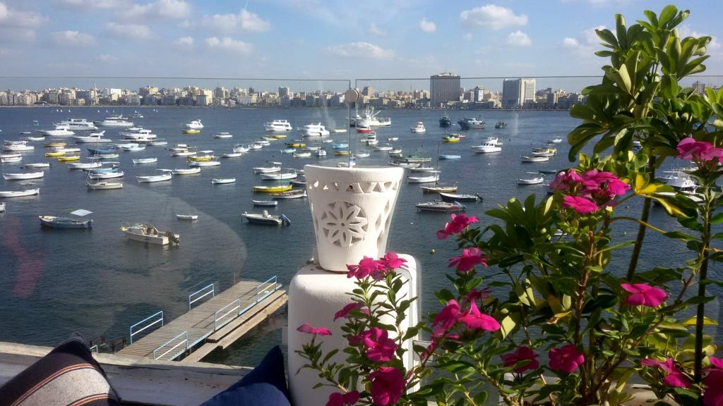 View to the Corniche from the Greek Yachting Club, Alexandria