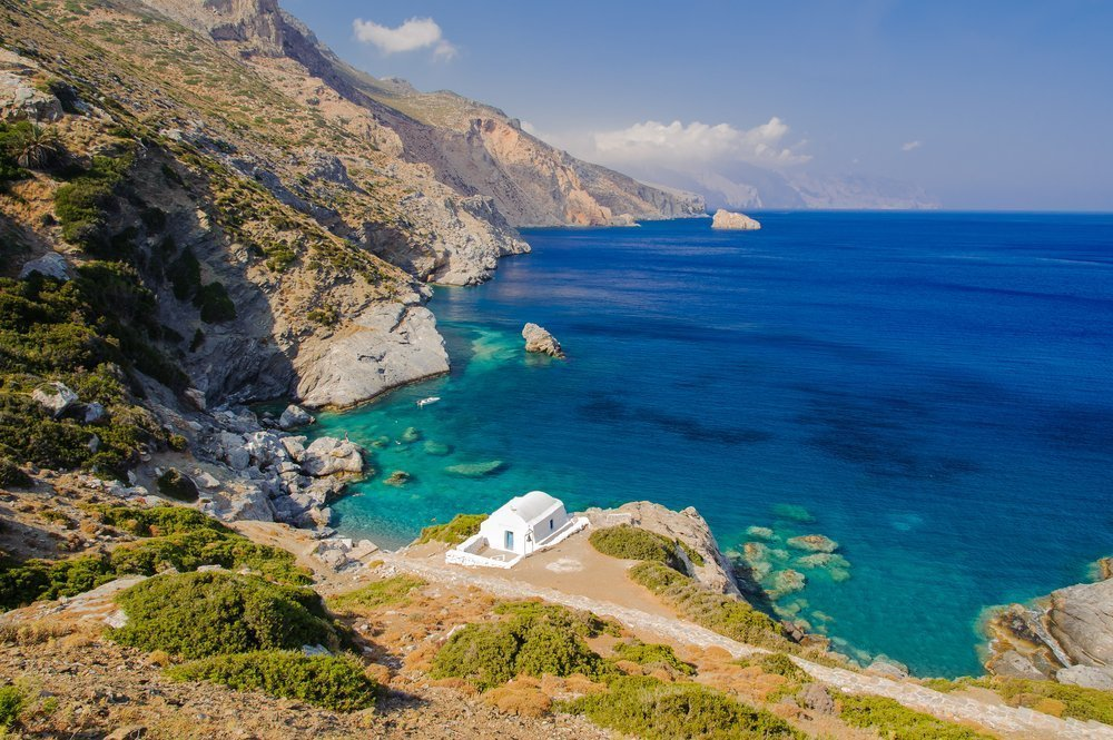 Amorgos, the easternmost island in the Cyclades