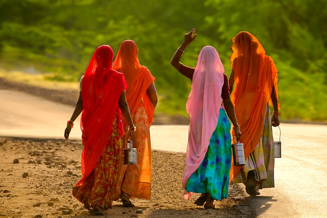 Farm women in Rajasthan, India