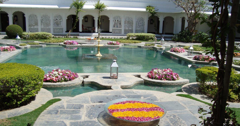 Lake Palace courtyard, Udaipur, India