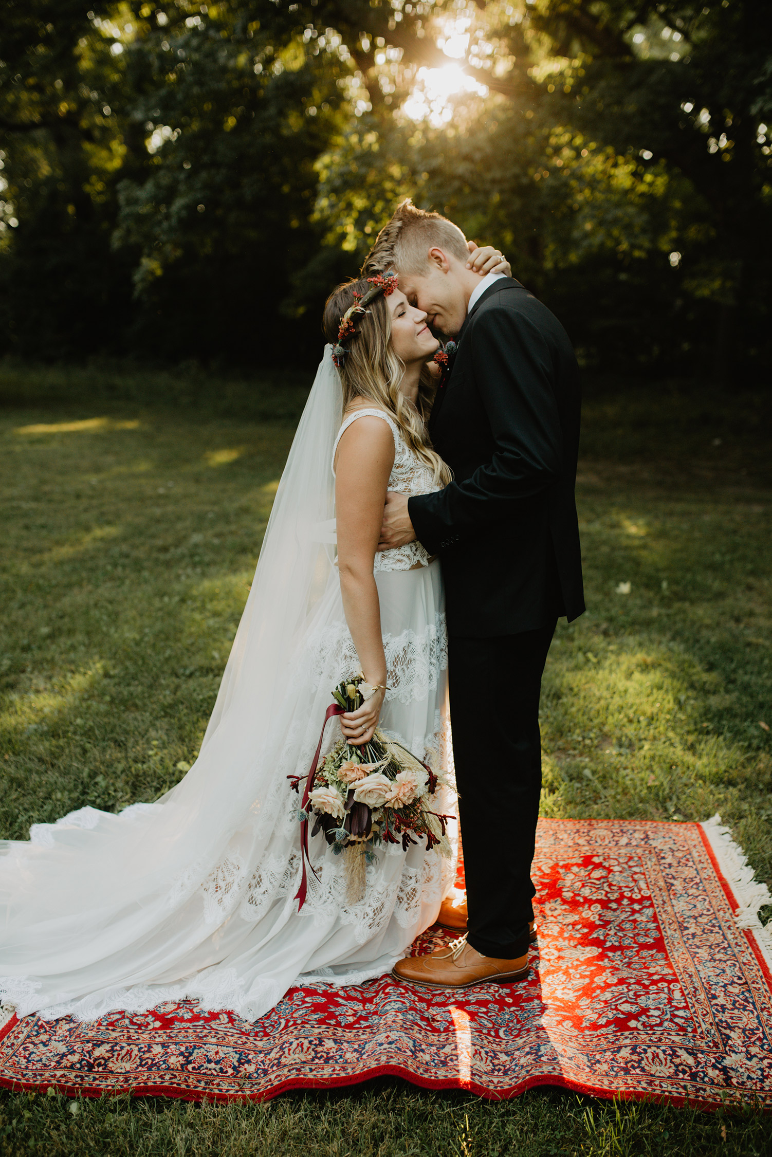boho-elopement-sunset