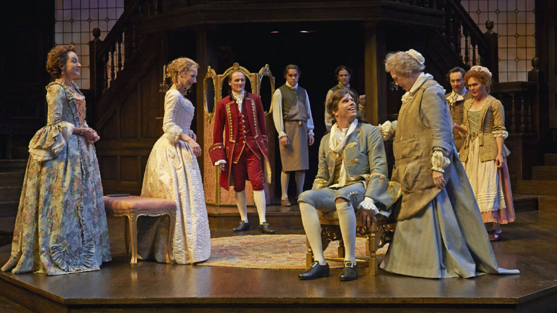 MEMBERS OF THE COMPANY IN THE STRATFORD FESTIVAL'S THE BEAUX' STRATAGEM
