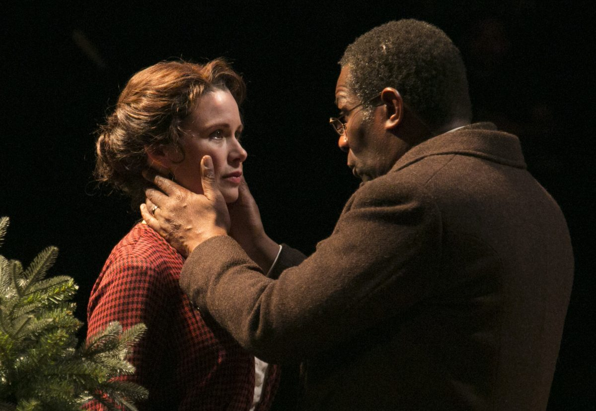Maggie Lacey and John Douglas Thompson in Theatre for a New Audience's production of Wilder's A Doll's House. (Gerry Goodstein)