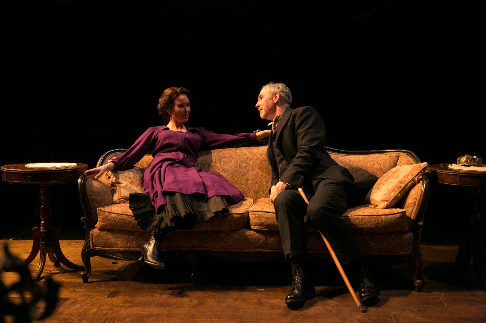 Maggie Lacey and Nigel Gore in Theatre for a New Audience's production of Wilder's A Doll's House. (Gerry Goodstein)