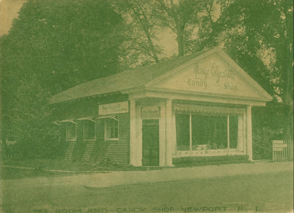 Across from the King Block, on the corner of Jones Avenue and Bellevue Avenue was this small Candy Shop/Tea Room. Theophilus brings one of his students to a Tea Room close to the Casino, which is one building down on the opposite side of the street.