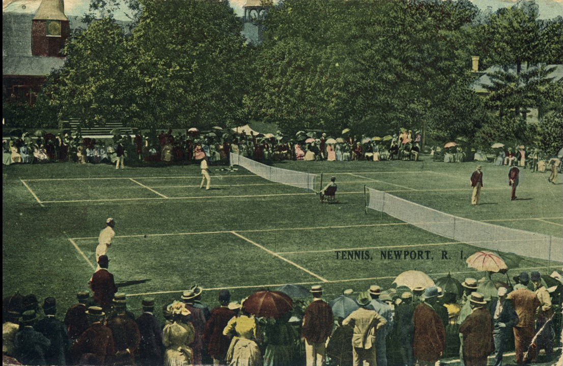 Tennis match in Newport early 1900's