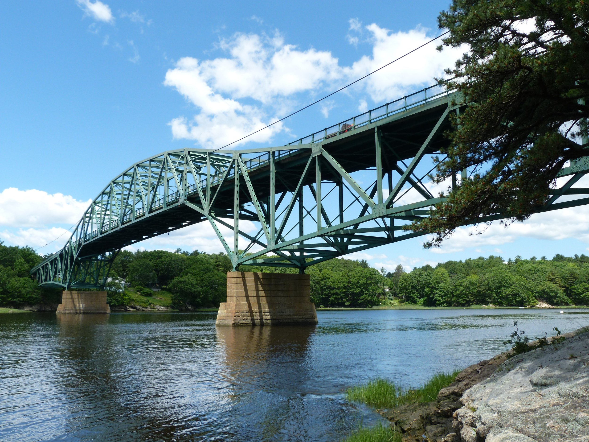 The Max L. Wilder Memorial Bridge over the Sasanova River. Photograph by Nathan Holth.