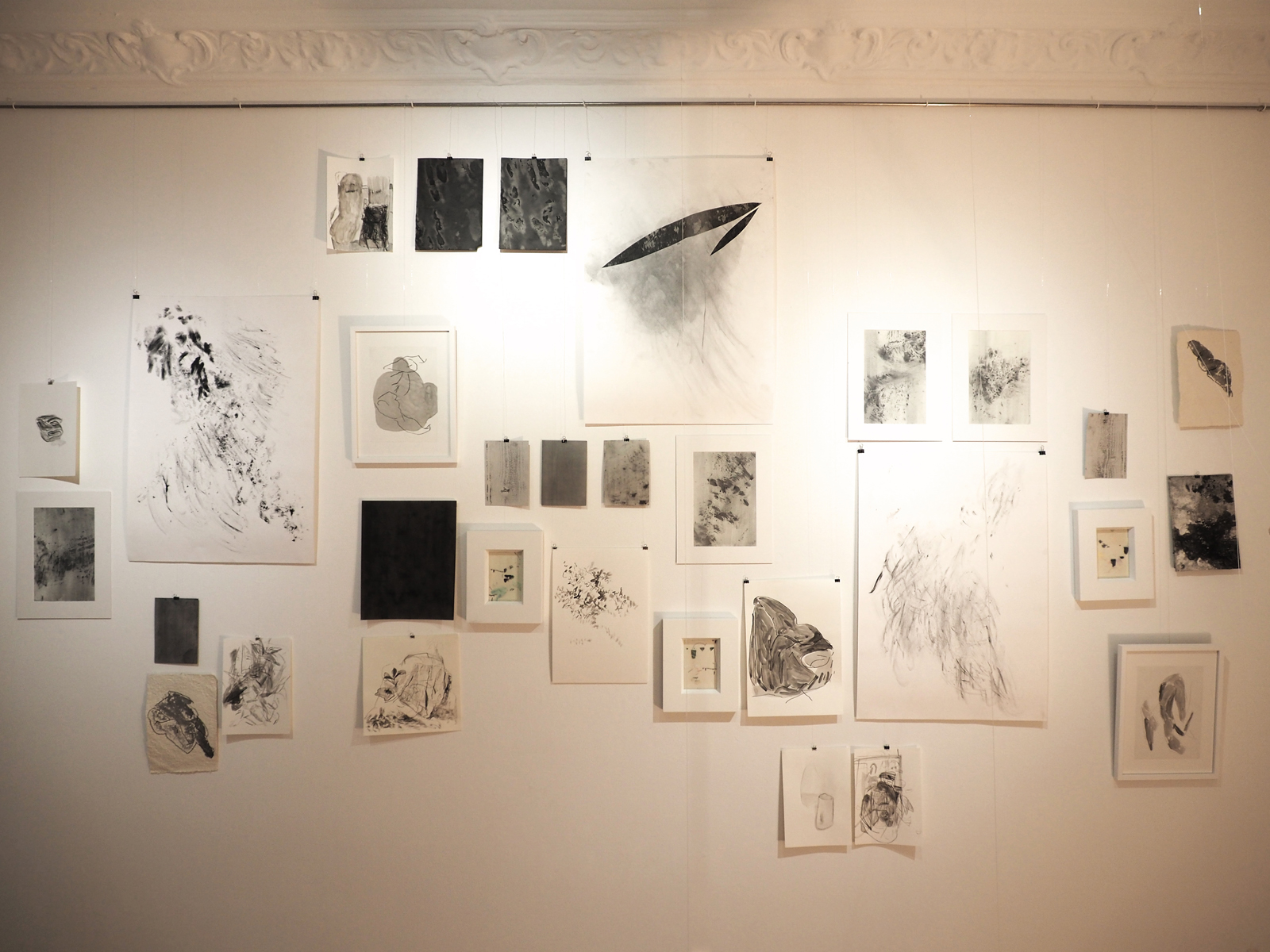 INSTALLATION VIEW of collective drawings, PROJEKTRAUM WILIBALD-ALEXIS, September 2018