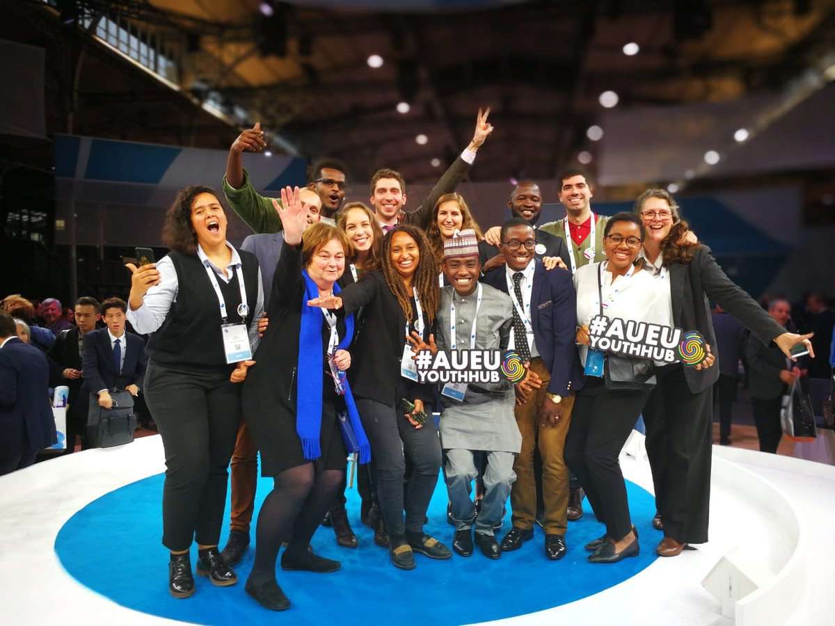 The AU-EU Youth Cooperation Hub members at the Paris Peace Forum.