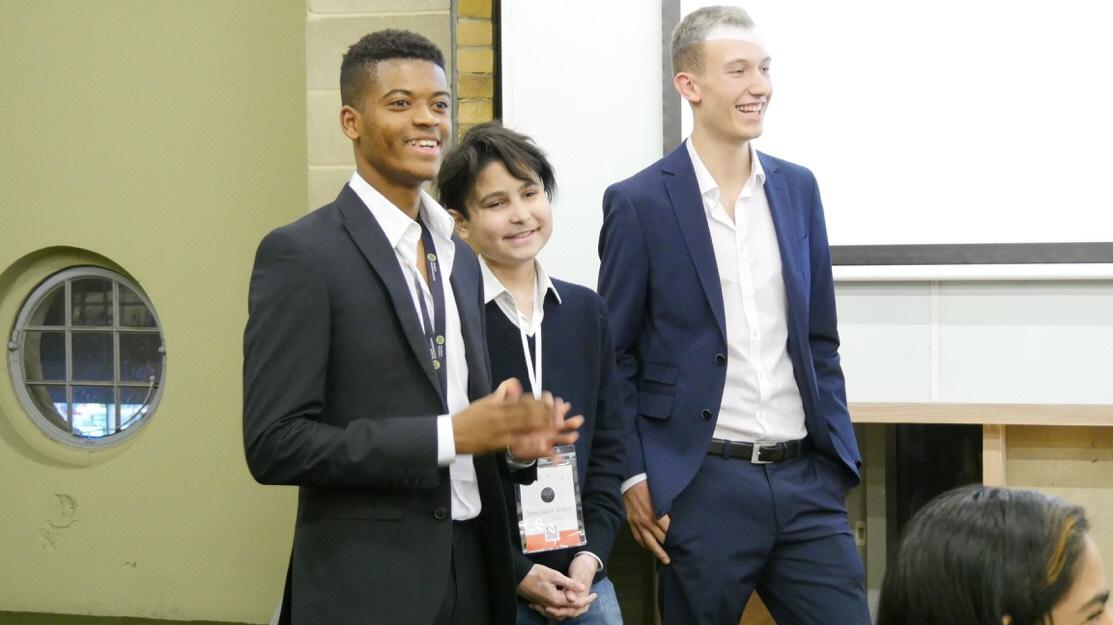 Left to right: Josh Akobeto, Tareq Al-Ouri, Fin Gnieser