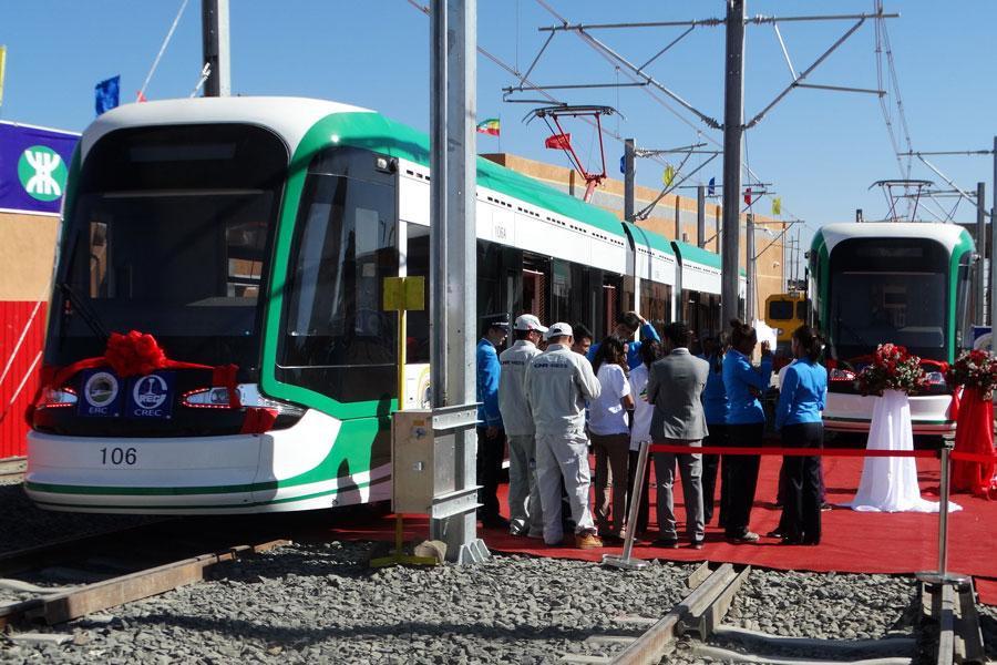 Light train in Ethiopia.