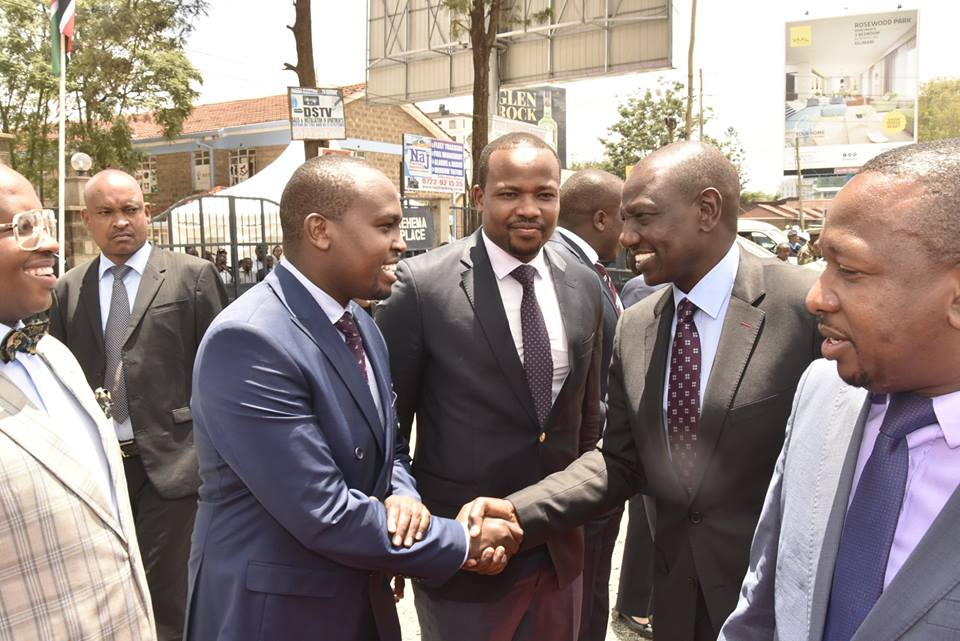 Hon Gideon Keter with Deputy President William Ruto at a past function in Nairobi.
