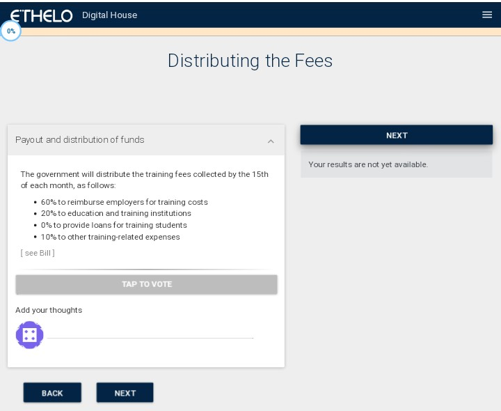 - Step 4.Here you comment on- How the payout and funds should be distributed.