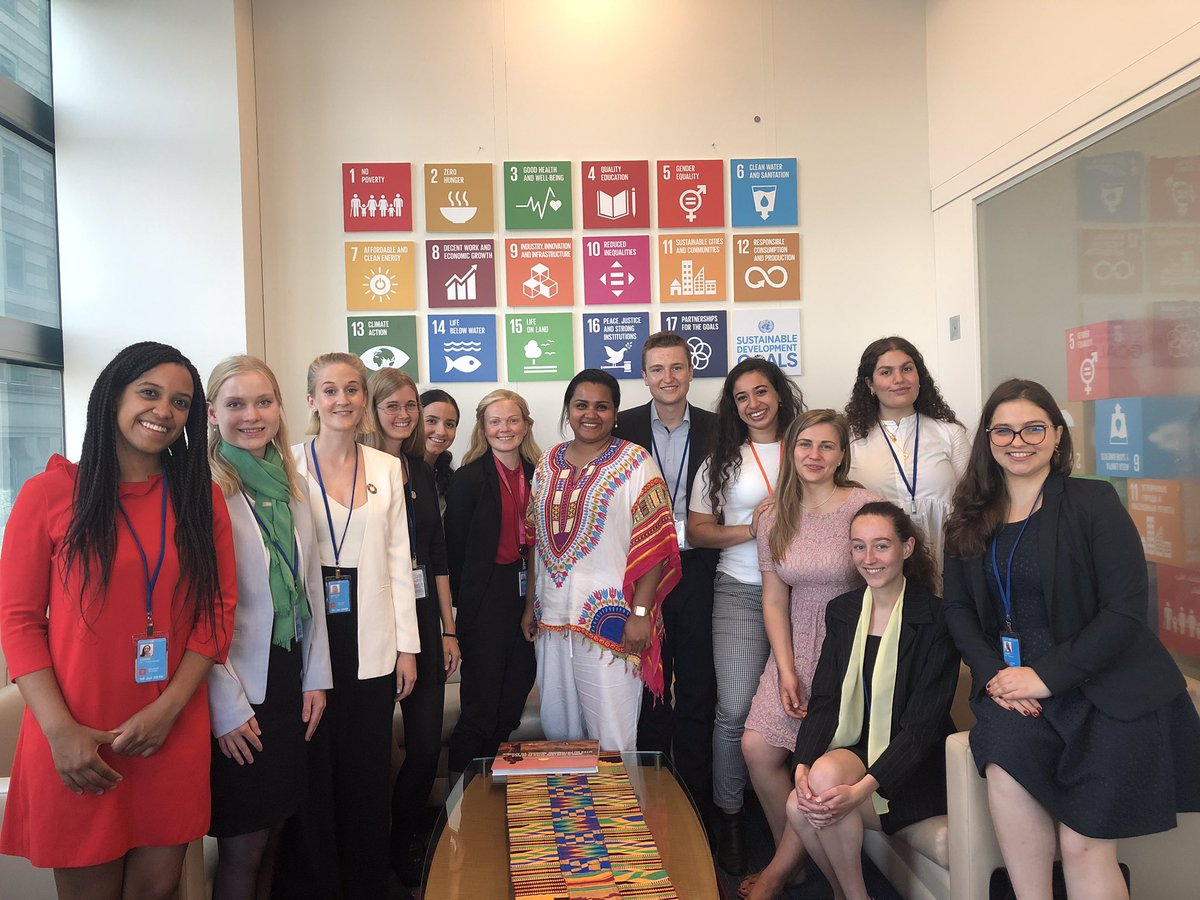 Youth delegates at High Level Political Forum for Sustainable Development