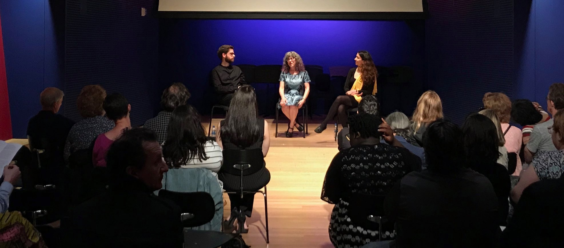 Fantastic Q&A with Marti Epstein, composer; Deniz Khateri, animator; and Jeffrey Means, conductor!