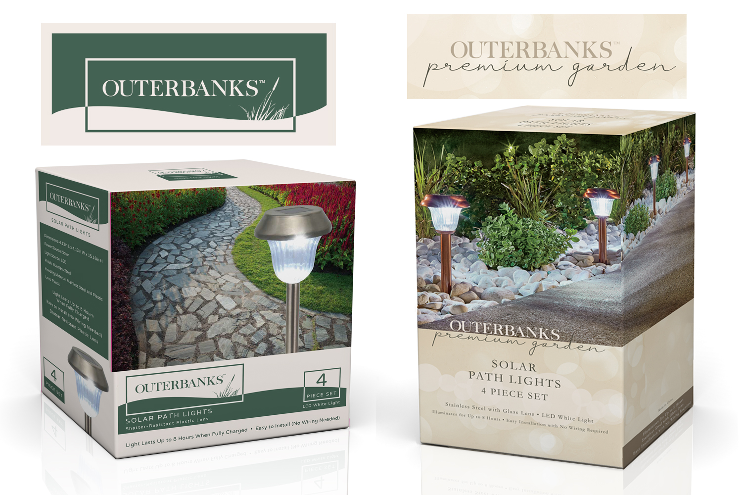 Outerbanks and Outerbanks Premium  - I led this project to segment the brand in two price point tiers.