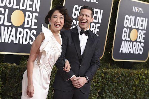 Hosts Sandra Oh and Andy Samberg