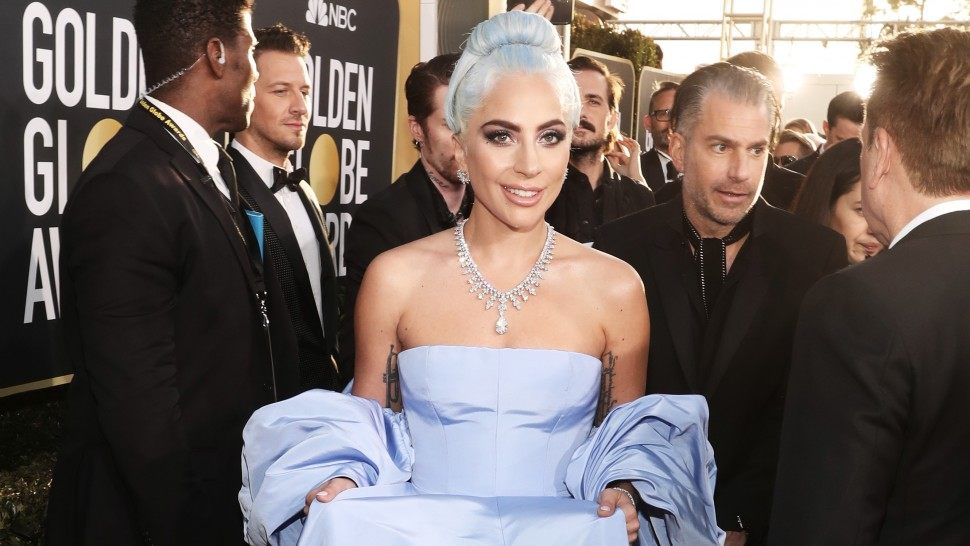 Lady Gaga, who stole the show on the runway and with her Golden Globe win for Best Original Song.
