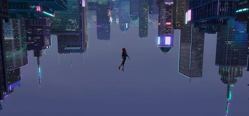 A breathtaking shot featuring Miles Morales as Spider-Man