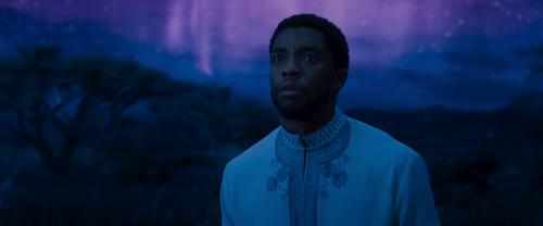 Chadwick Boseman in an early scene.